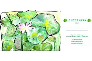 Yoga Geschenkgutschein vom Yogastudio Eve Krenz Nürnberg